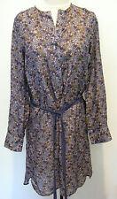 ORGANIC JOHN PATRICK Purple / Lavender 100% Silk Dress With Cool Design Size S