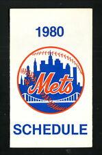 New York Mets--1980 Pocket Schedule--Chevrolet