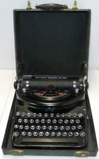 Antique Remington Noiseless Portable Typewriter Glossy Black Circa 1934