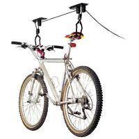 Bike Bicycle Lift Ceiling Mounted Hoist Storage Garage Hanger Pulley Rack Hook