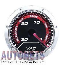 "Chrome Mechanical 2"" Vacuum Gauge Meter Hot Rod Street Rod Chevy Ford GM"
