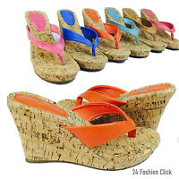 Women's Flip Flops Platform Thong Sandals Wedge Heel Shoes size 5-10