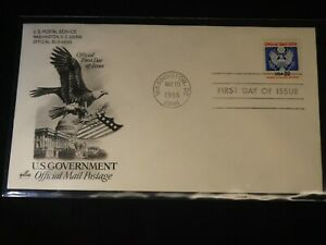 Scott's #O136 22c Eagle (1985) First Day Cover with Art Craft Cachet
