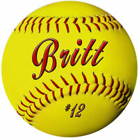 """Softball Round Mouse Pad Personalize Name Or Text In Any Color Teams 7-1/2"""""""