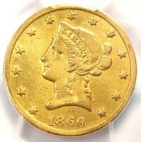 1860-S Liberty Gold Eagle $10 Coin - Certified PCGS Fine Details - Rare Date!