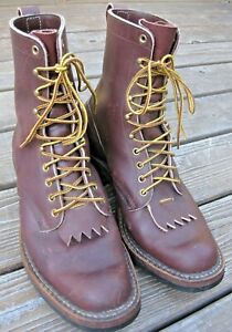 WHITE'S BOOTS USA - Packer Style Leather Mens Boots Size 10.5 E* (see size note)