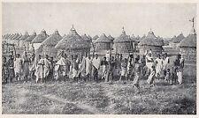 D2337 Somalia - I nuovi villaggi per i Coloni - Stampa - 1925 vintage print