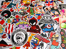 50 Cool Stickers Vinyl Skateboard Guitar Travel Case sticker pack decals Mix