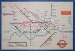 LONDON UNDERGROUND - BECK'S TRI-FOLD PASSENGER MAP FOR 1935.