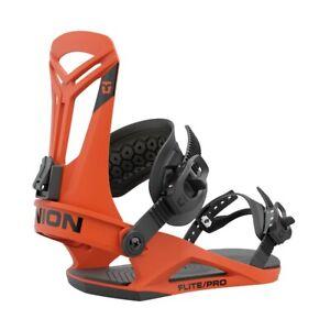 Union Flite Pro Snowboard Bindings Medium (US Men's Size 8-10) Orange New 2022