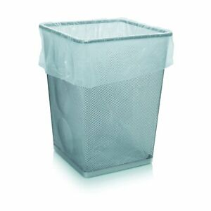 Pack of 100 Small White Square Bin Liner Bags for Waste Baskets Light Duty Only