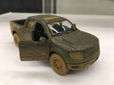 "Kinsmart 5"" Ford F-150 SVT Raptor SuperCrew Muddy Diecast Model Toy 1:46 Black"