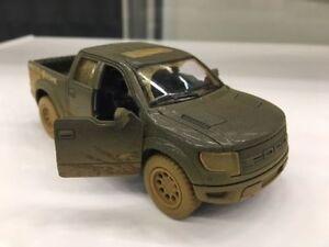 "Kinsmart 5"" Ford F-150 SVT Raptor SuperCrew Muddy Diecast Model Toy 1:46 Black"