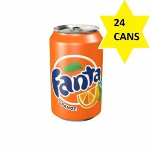 Fanta Orange Soft Drink Cans (24 x 330ml)Sparkling Fizzy Drink Refreshing Fruity