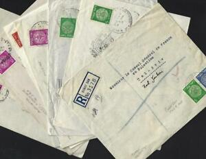 Israel 1948 - 1949 Doar Ivri Postally Used Cover Collection