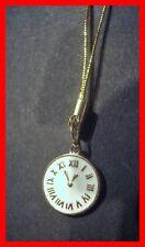 Schöne Uhr in gold-weiß Handyanhänger Schlüsselanhänger NEU        (y22)