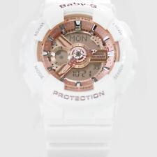 Casio Baby-G Shock BA110-7A1 Brand New Women's White Rose Gold Ana-Digital Watch