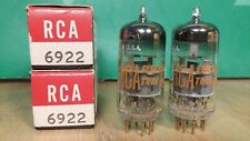 Pair of Amperex (RCA label) 6922 E88CC NOS NIB Gold Pin Vacuum Tubes