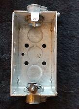 "TPG - 2"" Electrical Wall Box 1 Gang Steel w/ Dual Conduit Set Screw fittings"