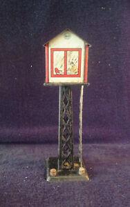 Vintage MARX Electric Train Tin Metal Switch Tower O Gauge