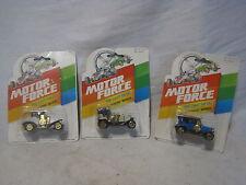 3 x vintage nip MOTOR FORCE die cast metal cars mini classic car 2008