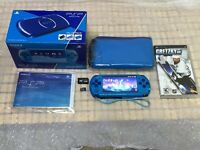 Sony PSP 3000 Sky Blue System with 1 PSP game & Memory Card Bundle