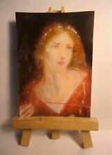 Rosamond the fair ACEO Original PAINTING by Ray Dicken a Mary Lizzie Macomber
