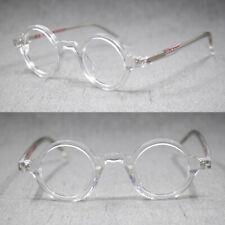 Pequeño Redondo 38mm borde completo Marcos De Anteojos Gafas de acetato hecho a mano óptico