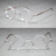 Small Round 38mm Full Rim Eyeglass Frames Acetate Hand Made Glasses Optical