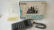 FUJITSU FM Towns /MARTY Original numeric keypad Boxed,Manual set tested -a528-
