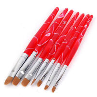 7pcs/set Women UV Gel Brush Polish Painting Pen Kit Salon Nail Art Manicure DIY