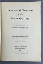 EUROPEAN AIR TRANSPORT ON THE EVE OF 1939 WW2 REPORT 1940 IMPERIAL AIRWAYS