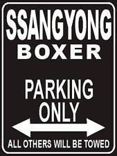 Parkplatzschild 32x24 cm schwarz - Ssangyong Boxer