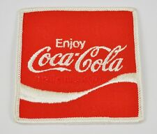 COCA-COLA ENJOY COKE USA STAFFA rappezzi ricamate emblema patch logo 7,5 cm