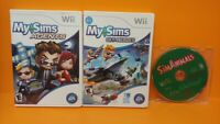SimAnimals MySims Agents Sky Heroes - Nintendo Wii 3 Game Lot Animals Sim Tested