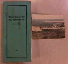 1981 NATIONAL BITUMINOUS COAL WAGE AGREEMENT BOOK AND PHOTOGRAPH OF INDIANA MINE