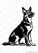 "GERMAN SHEPHERD 12"" dog decal sticker WHITE  car truck SUV die cut vinyl"
