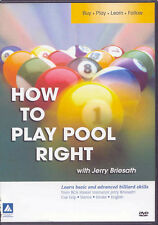 HOW TO PLAY POOL RIGHT DVD - the Billiard Congress of America - JERRY BRIESATH