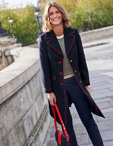 BODEN Damen  Mantel Jacke- dove coat-Navy uk12 38