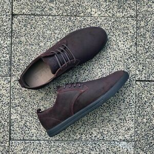 CLAE Ellington Suede Umber Waxed Sneaker Shoes Mens Casual Size 9 Brown New ✅