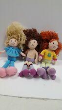"LOT OF 3- VINTAGE GROOVY GIRLS 13"" PLUSH Manhattan toy  m1#14"