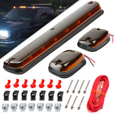 3xAmber Cab Light Roof Running Cab Marker Amber LED Light Assembly for GMC Chevy