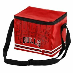 Chicago Bulls NBA 6 Pack Cooler Lunch Box Insulated
