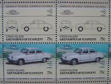 1957 PANHARD et LEVASSOR (PL) DYNA Z Car 50-Stamp Sheet / Leaders of the World