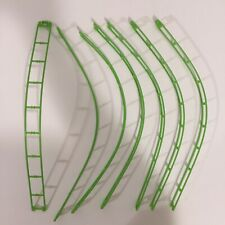 """Lego KNEX MICRO Track 16"""" Green Straight Roller Coaster Parts 7 Piece Lot"""