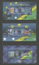 BRITISH SOLOMON IS's 2005 6 50TH ANNIV EUROPS M/SHEETS SG,MS1137 U/M NH LOT 163L