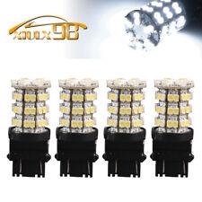 4x White 3157 3156 60SMD LED Light Bulbs Tail Brake Stop 3528 3157A 6000K