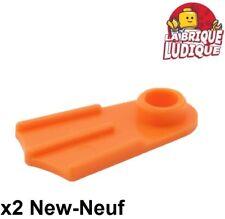 Lego - 2x Minifig palme Footgear Flipper orange 2599a NEUF