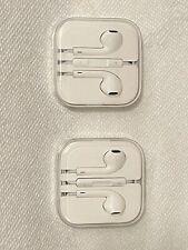 PAIR of Apple iPhone 4 5 6 Plus 6S iPod iPad Original Earbuds Headphones 3.5mm