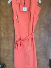 Calvin Klein Orange/ Ember  Size 10. Zipper Dress. Cute. Sexy